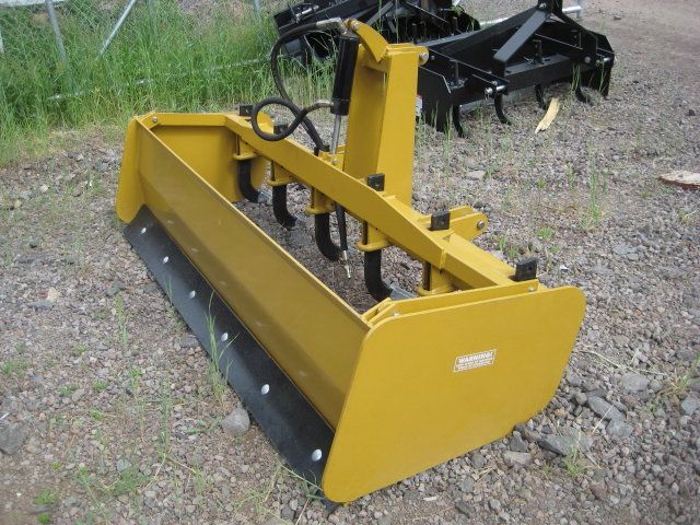 2 Blade Box Cat : Box scraper heavy duty with hydraulic rippers cat
