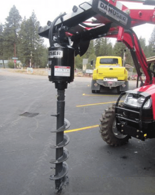 Post Hole Digger - Skid Steer Front Mount Auger