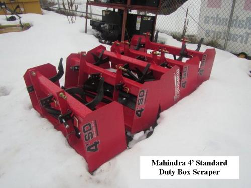 Box Scraper 4' Mahindra Standard Duty