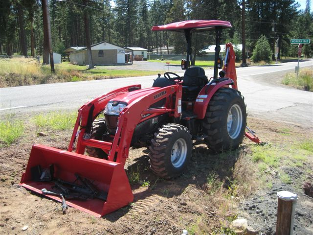 Mahindra 3540 4wd Power Shuttle Shift With Backhoe And Fel