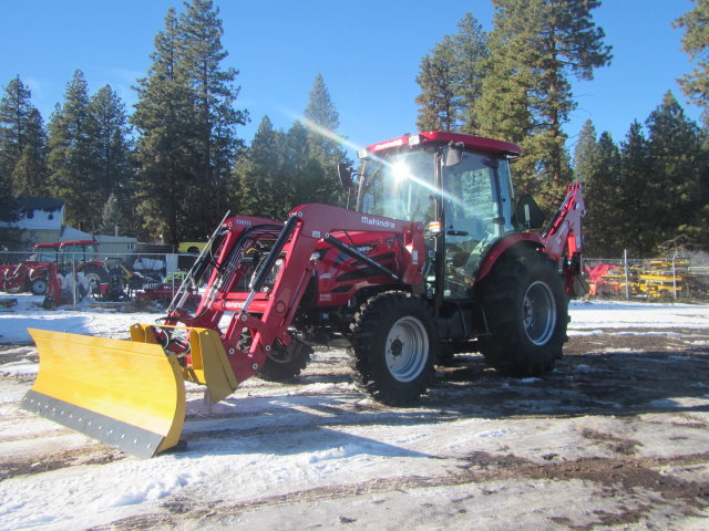 Mahindra 2665 Cab Tractor, Loader, Backhoe (shown with