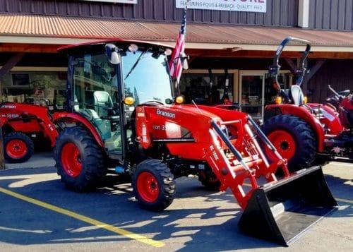 Branson 3515Ch Cab Tractor with FEL