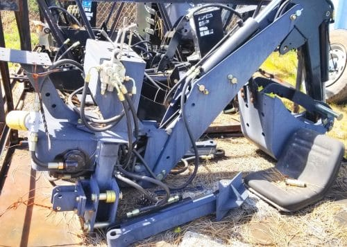 Backhoe with Hydraulic Thumb