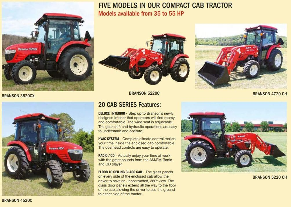 Branson 4820Ch Cab Tractor Loader