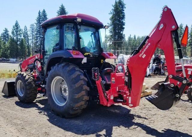 Mahindra 6075 Cab Tractor Loader Backhoe